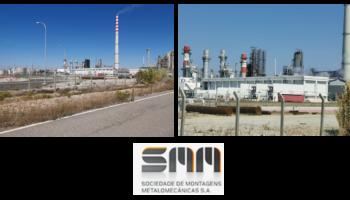 Trabajos en hornos y chimeneas para SMM en la refinería de Galp en Sines